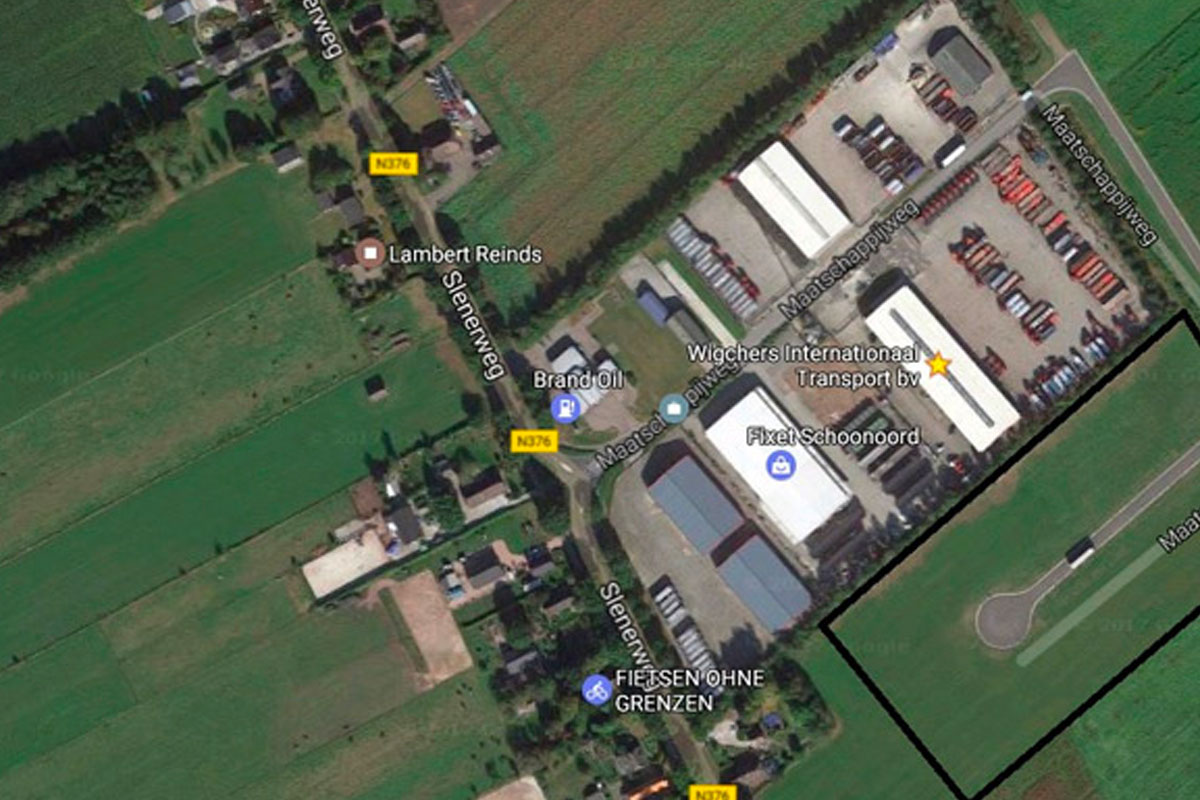 luchtfoto van bedrijventerrein